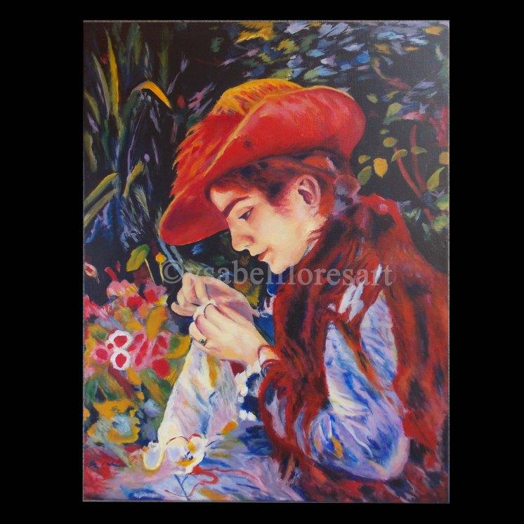 Renoir's Girl Sewing