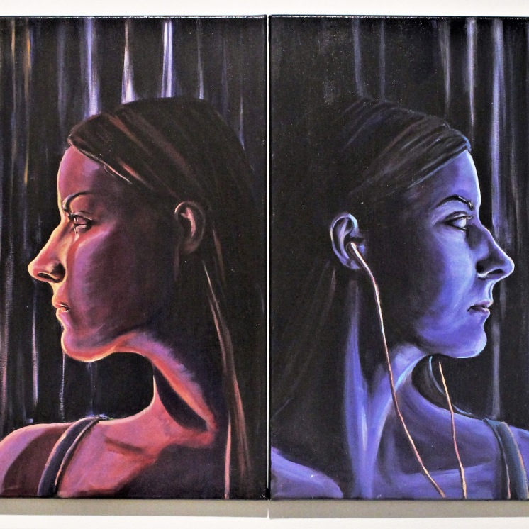 """Acrylic on Canvas: (Together) 24"""" x 48"""""""